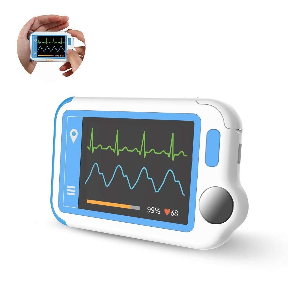 Wellue HeartMate ECG Monitor with PC Report, Portable Atrial Fibrillation Monitor, Arrhythmia/Premature Beat/Irregular Rhythm Detector, Rechargeable Heart Rate Monitor with Color Touch Screen