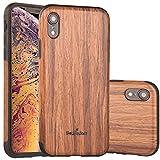 NeWisdom iPhone XR Case Wood, iPhone X R Wood Case Unique...