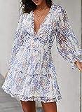 Dokotoo Womens Sun Casual V Neckline Long Sleeve