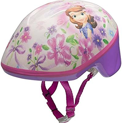 Disney Sofia the First Princess Girls Skate 7 Piece Set Bell Bike Helmet Pads /& Gloves