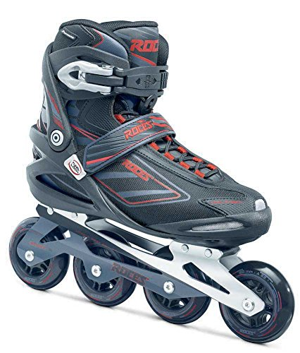 Roces 400799 Men's Model IZI Fitness Inline Skate, US 10, Black/Blue Lime