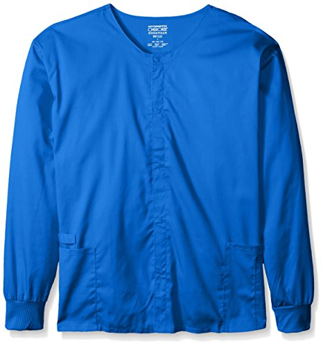 (Cherokee Men's Big Ww Flex with Certainty Unisex Snap Front Warm-Up Jacket, Royal, XX-Large)