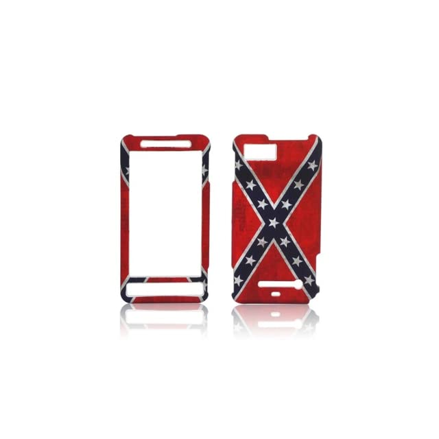 CONFEDERATE REBEL FLAG MOTOROLA DROID X X2 RUBBERIZED HARD PHONE COVER CASE SNAP ON   PERFECT FIT Cell Phones & Accessories