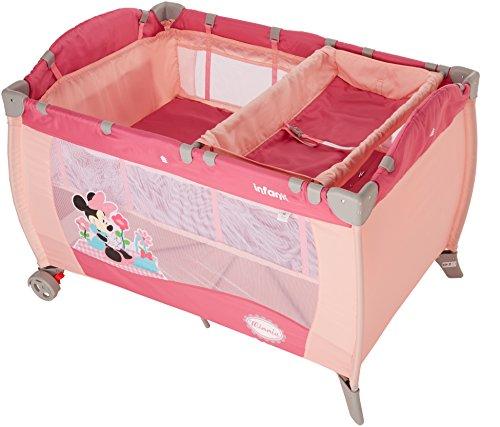 Disney Baby Cuna de Viaje con 2 Niveles, Minnie, rosa