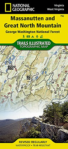 Massanutten and Great North Mountains [George Washington National Forest] (National Geographic Trails Illustrated Map (792))