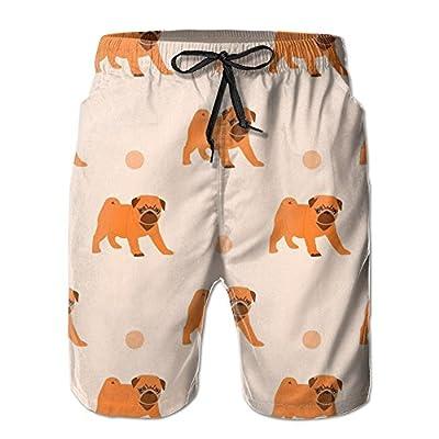 OPDDBB Cool Pug Dog Board Shorts Swim Trunks With Pockets For Men free shipping