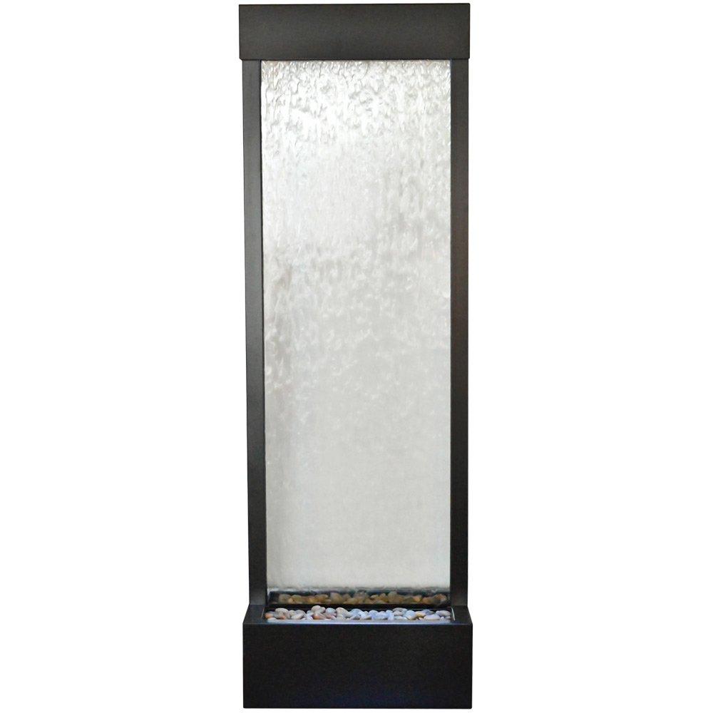Bluworld Tall 6' Black Onyx Garden Fall with Clear Glass