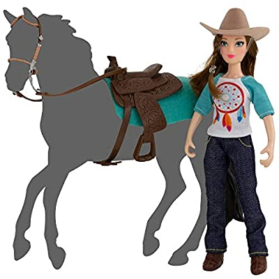 Breyer Freedom Series (Classics) Natalie Cowgirl Doll | 5 Piece Doll and Accessory Set | 1:12 Scale | Model #62025: Toys & Games
