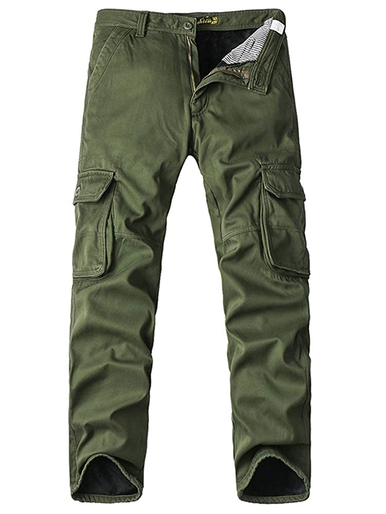 Jessie Kidden - Pantalón - para Hombre Army Green with Fleece 32