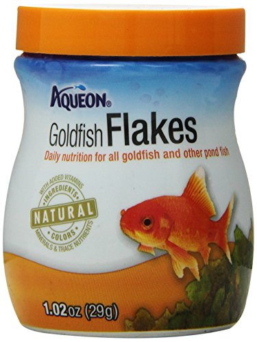 Goldfish Aquatic Food - Aqueon Goldfish Food Flakes, 1.02-Ounce