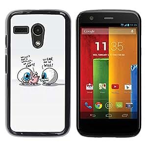 // PHONE CASE GIFT // Duro Estuche protector PC Cáscara Plástico Carcasa Funda Hard Protective Case for Motorola Moto G 1 1ST Gen / Abstract Eyes /