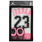 Jordan Baby Clothes 3 Piece Basketball Jersey Set (0-6 months) White, 0-6 Months
