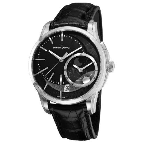 Maurice Lacroix Men's PT6118-SS001330 Pontos Black Moonphase Dial Watch