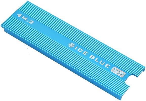 muxiao CPU Heatsink Thin Heat Sink with Thermal Conductive Adhesive Tape M.2 Heatsink Nvme Heatsink Red//Blue Aluminum Ngff Heatsink M.2 Ssd