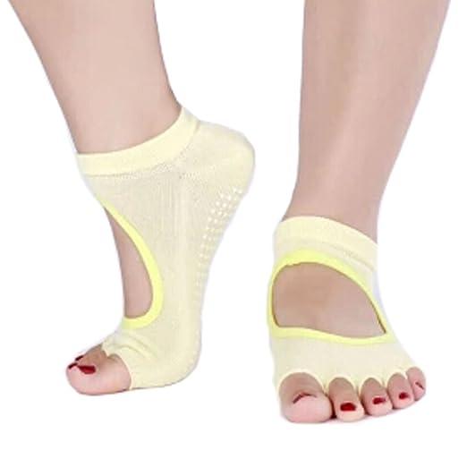 De la Mujer Antideslizante Mitad Dedos Calcetines Yoga ...