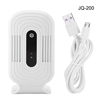 Fdit Calidad de Aire Tester Detector de Aire USB WiFi Probador de Monitor Inteligente PM2.5 HCHO TVOC Analizador de CO2(Blanco-JQ200): Amazon.es: Hogar