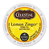 Celestial Seasonings Lemon Zinger Herbal Tea, K-Cup Portion Pack for Keurig K-Cup Brewers, 24-Count