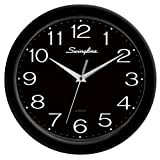 Swingline Fashion Wall Clock, 12-Inch in Diameter, Requires 1 AA Battery (Not Included), Black, 6447423001