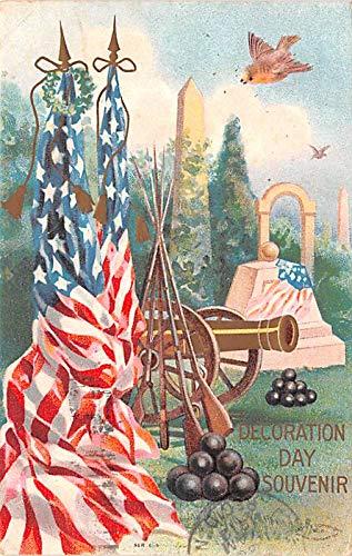 Civil War Post Card Old Vintage Antique Postcard Decoration Day Souvenir 1912