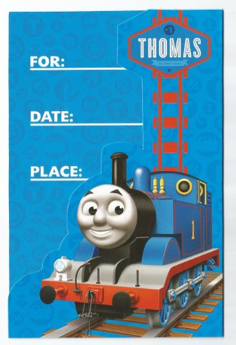 THOMAS THE TANK ENGINE & FRIENDS Die-Cut Party Invitations & Envelopes (16 Count)]()