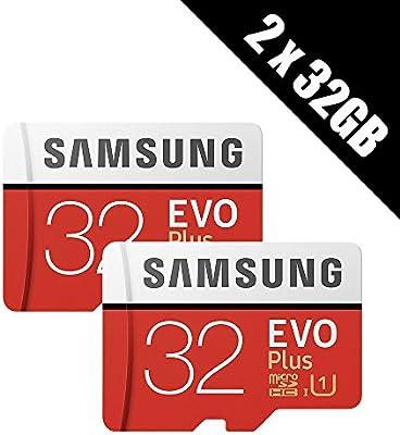 2 x Samsung Memory EVO Plus 32 GB Micro SDHC Tarjeta 95 MB/s ...