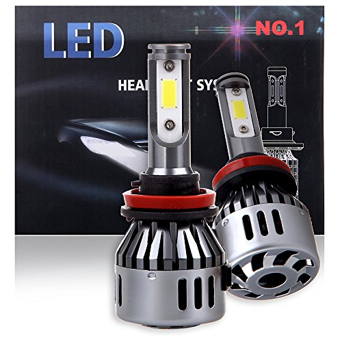 ECCPP H11/H8/H9 LED Headlight Bulb Super Bright 360 Degree Cree White Fog Light LED Headlight Kit High Low Beam – 8000Lm 80W 6000K Focus Light – 1 Year Warranty (Pack of 2)