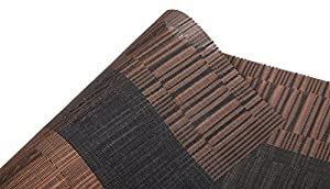 Famibay PVC Place Mats - Heat Insulation PVC Placemats Stain-resistant Woven Vinyl Table Mats for Kitchen