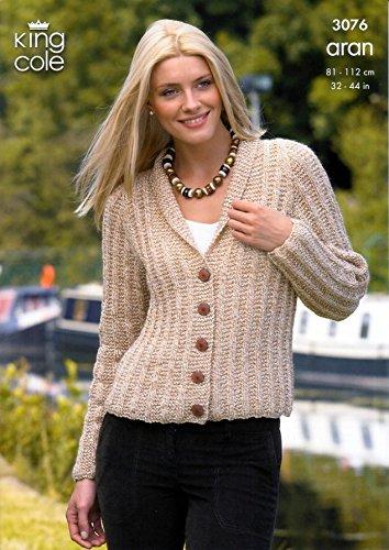 King Cole Ladies Cardigan & Bolero Fashion Aran Knitting Pattern ...