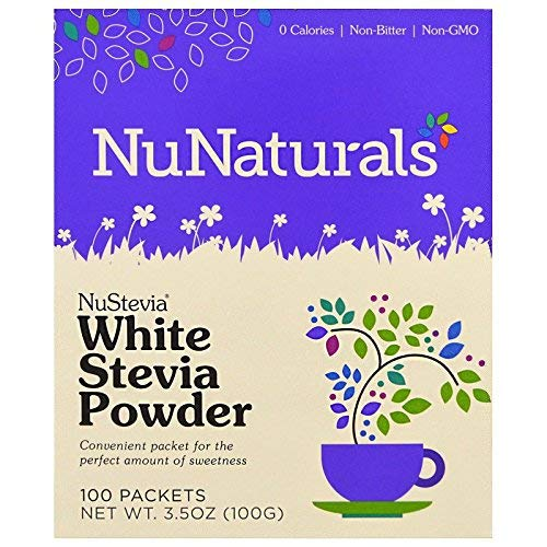 NuNaturals Nustevia White Stevia Powder, 100 Count ()