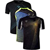jeansian Men's 3 Packs Athletic Quick Dry Short Sleeve Sport T-Shirt Tshirts Tees LSL182