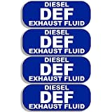 GHaynes Distributing 4 Pack DEF Diesel Exhaust Fluid Sticker Decal ics (bio small truck usa