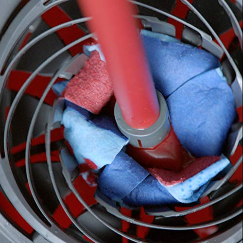 6  ... Red//Grey//Blue Plastik Vileda SuperMocio XL 3 Action Mop und Eimer Set