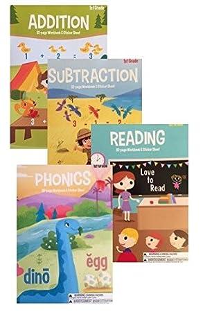 Amazon.com: 1st Grade & Kindergarten 8 Book Set Educational ...