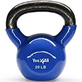 Yes4All Vinyl Coated Kettlebell Weights Set – Great for Full Body Workout