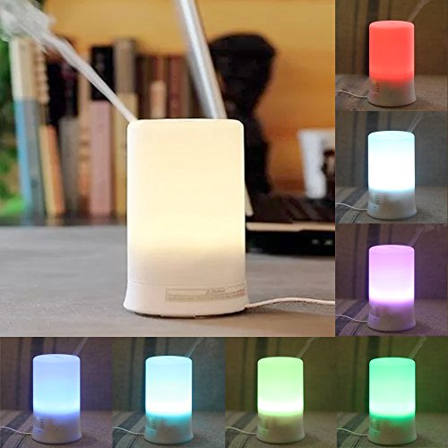 Efrank 100ML Mini Oil Diffuser - Color Changing Aromatherapy Ultrasonic Eessential Oil Cool Mist Aroma Diffuser with 7 Color Changing LED Lamps and Timer- Soft Mist Mode Adjustment Waterless Auto Shut-off Ultrasonic Purifier Humidifier -Great for  Yoga, Office, Spa, Bedroom, Baby Room