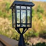 Gama Sonic GS-114B-FPW-BLK Prairie Bulb Lamp