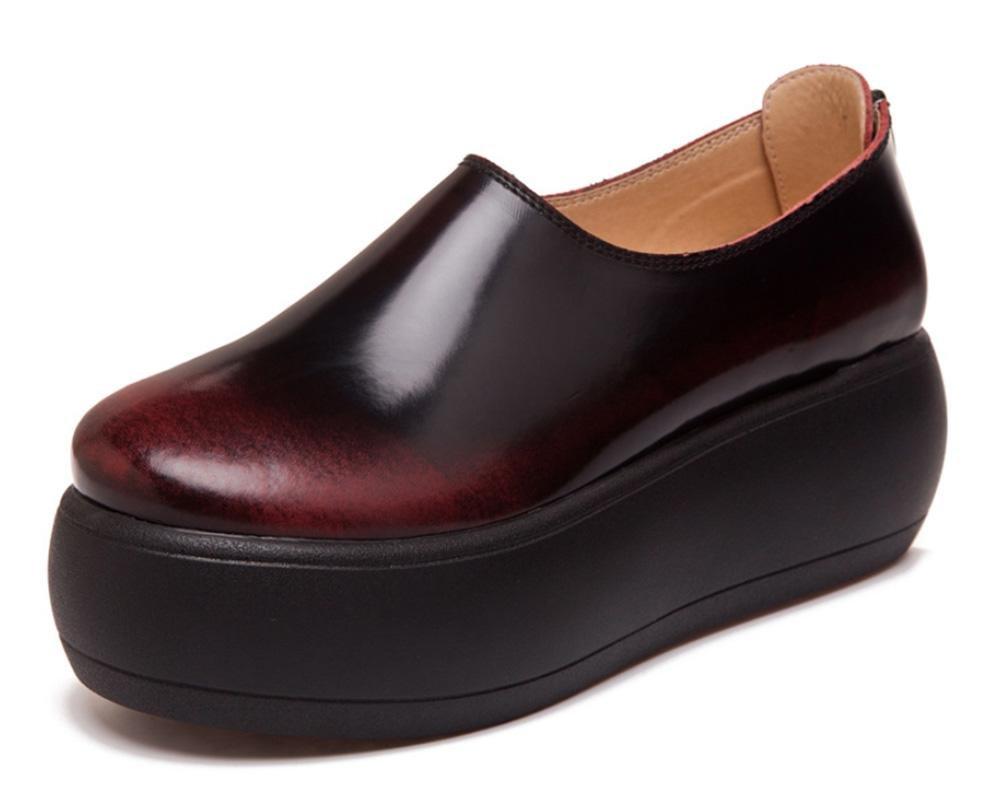 Mme chaussures rétro Mme d ascenseur printemps rub épais muffins croûte simples Chaussures chaussures rétro chaussures de sport rub red 228c430 - piero.space