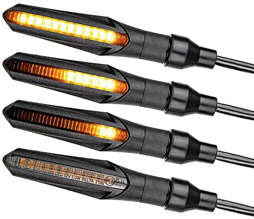 E – Mark LED motorfiets knipperlicht looplicht mini richtingaanwijzer universeel sequentieel loopeffect quad ATV scooter…