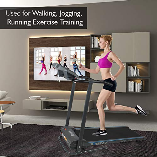 SereneLife Electric Folding Treadmill Exercise Machine - Smart Compact Digital Fitness Treadmill Workout Trainer w/Bluetooth App Sync, Manual Incline Adjustment, for Walking, Running, Gym SLFTRD20 by SereneLife (Image #6)