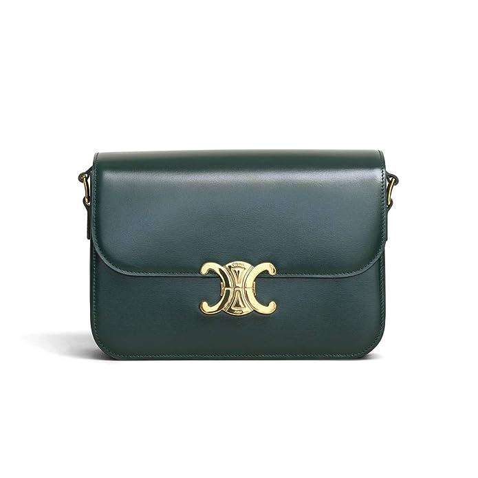 ZUI-CELINE MEDIUM TRIOMPHE BAG IN SHINY CALFSKIN (black)  Handbags  Amazon .com 5da0cb0bbfbd2