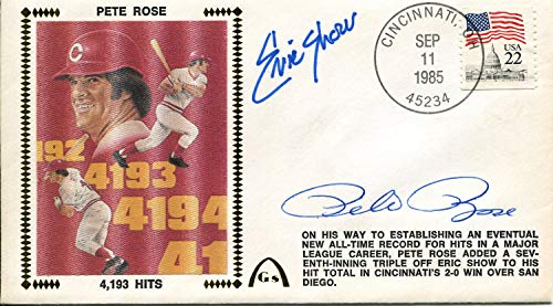 (Pete Rose & Eric Show Autographed First Day Cover)
