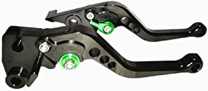 Unlimited 6 Adjustable Position Black Brake Clutch Lever for Kawasaki NINJA 650R/ER-6F/ER-6N 2009-2016, VERSYS (650cc) 2009-2014, NINJA 400R 2011