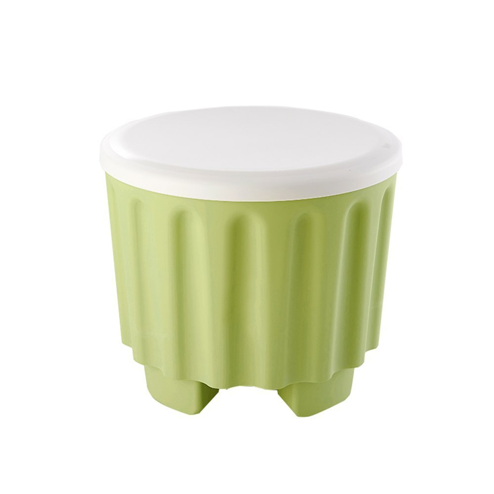 MOMO MOMO MOMO Se Puede apilar el Color Taburete de Almacenamiento Almacenamiento Multifuncional Creativo Taburete de Almacenamiento Se Puede sentar en el Taburete del Zapato Taburete de plaacute;stico (4 Colores op 21a4f5