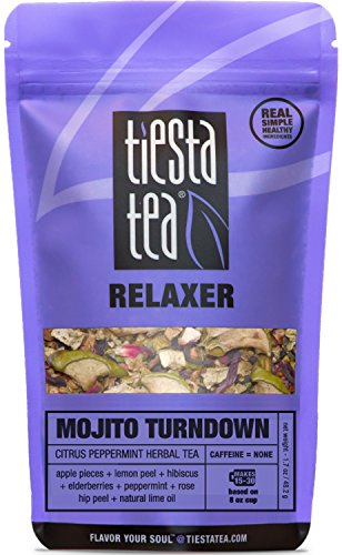 Peppermint Loose Leaf Herbal Tea (Citrus Peppermint Herbal Tea | MOJITO TURNDOWN 1.7 Ounce Pouch by TIESTA TEA | Caffeine Free | Loose Leaf Herbal Tea Relaxer Blend | Non-GMO)