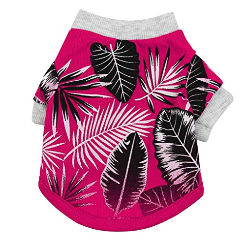 Smdoxi Tropical Beach Hawaiian Style Vest Puppy Cat Pet Clothing Fashion Shirt Cute Cool T-Shirt