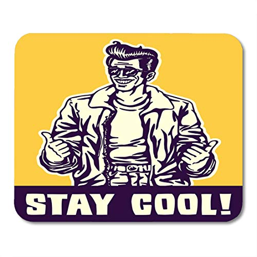 Emvency Mouse Pads Stay Cool Dude in Jacket and Rockabilly Pompadour Hairstyle Mouse Pad for notebooks, Desktop Computers mats 16