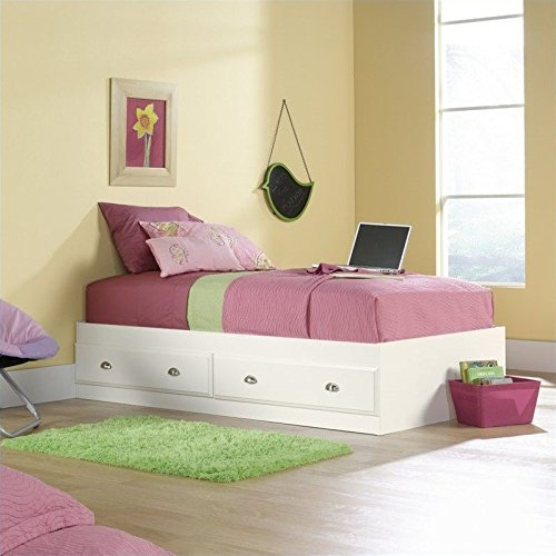 Twin Size Wood Finish Bed - 3