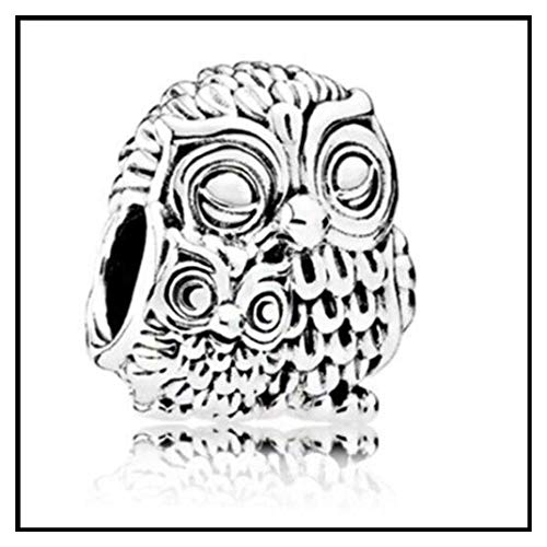 Vintage Punk Tibet Silver Color Mickey Mouse Owl Cat Dog Stars Charms Beads Fit Pandora Bracelets Necklaces for Women Making 4