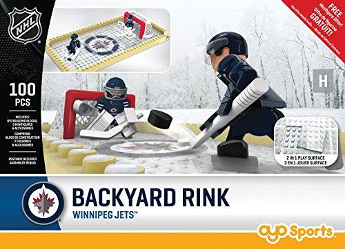 (OYO NHL Winnipeg Jets Backyard Rink Set, Small, Black)