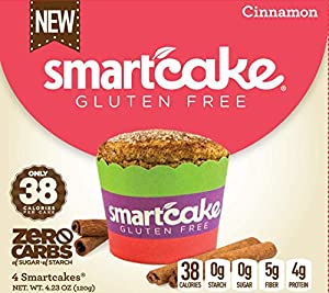 3 Boxes Smartcake Bundle 1x Chocolate 1x Lemon 1x Cinnamon Gluten Free Sugar Free Low Carb Keto Snack Cakes 6x Twin Packs 12 Individual Cakes from Smart Baking Company